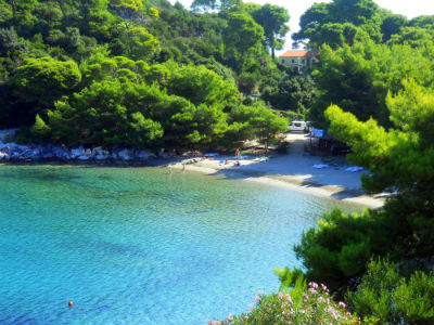 Saplunara beach at the island of Mljet