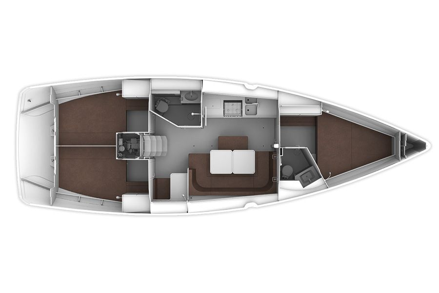 Bavaria 41 Cruiser layout