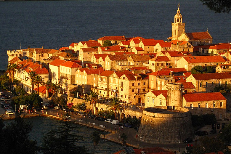 Korcula Town in the evening