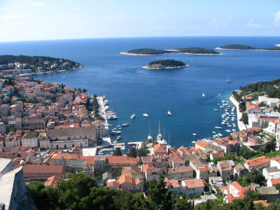 the island of Hvar, city of Hvar, the view from the fortress
